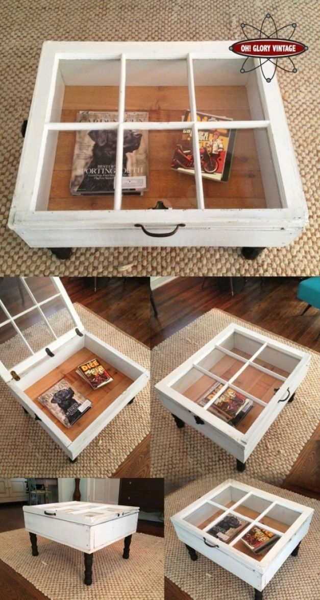 GoodsHomeDesign  old windows  Window coffee table Old windows DIY Furniture