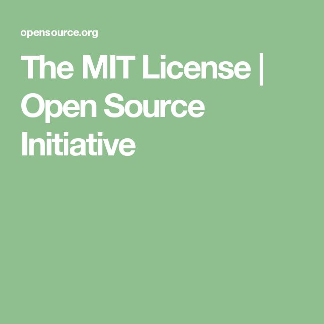 The MIT License | Open Source Initiative
