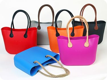 The O bag by Fullspot. Numerous colours and interchangeable handles.  Womens handbags