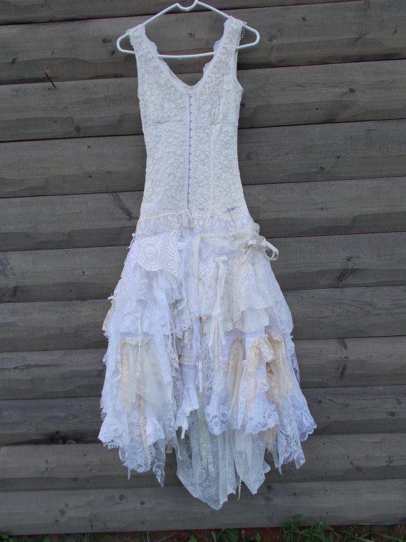 Wedding Dress Rag Doll Style Skirt Corset Front Top Fantasy Dress Romanti