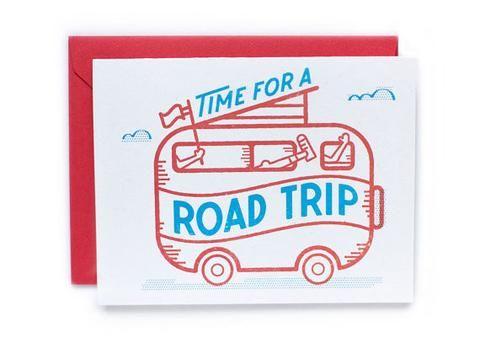 Ello There Time for a Roadtrip Postkarte