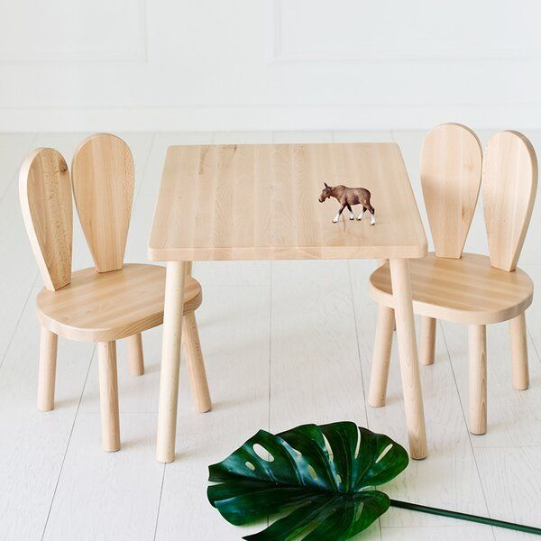 Harris Children's 3 Piece Rectangular Table and Chair Set в