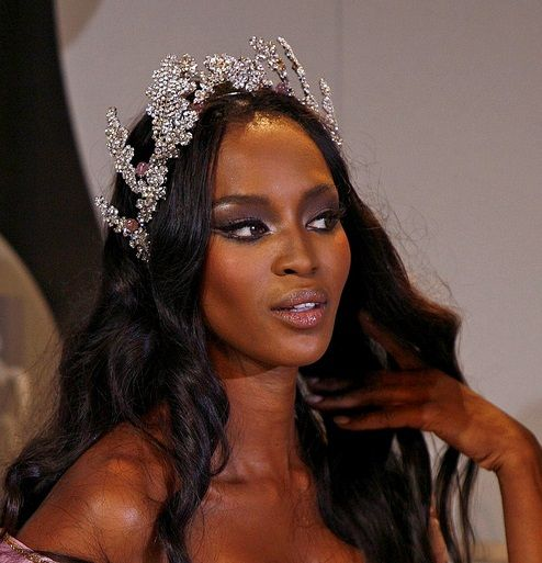 - Naomi Campbell backstage at Christian Dior, F/W...
