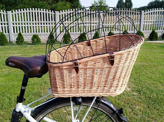 XL Carrier Basket Dog Bike Basket Bicycle Basket Dog Basket Dog ...