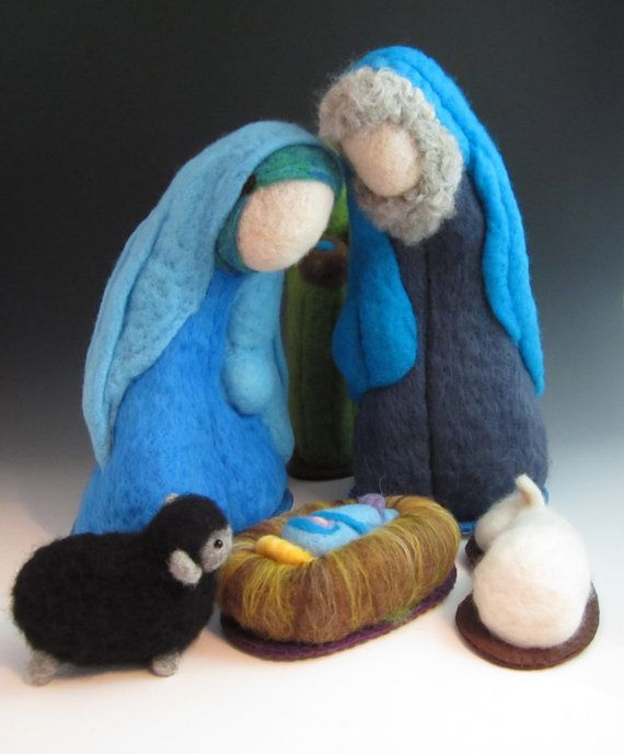6 piece Large Heirloom Needle Felted Nativity Set - FOR 2013 SEASON. $275.00, via Etsy.