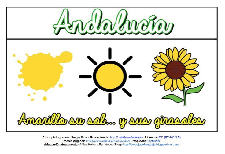 """""""Los colores de mi Andalucía"""" adaptación con pictogramas"""