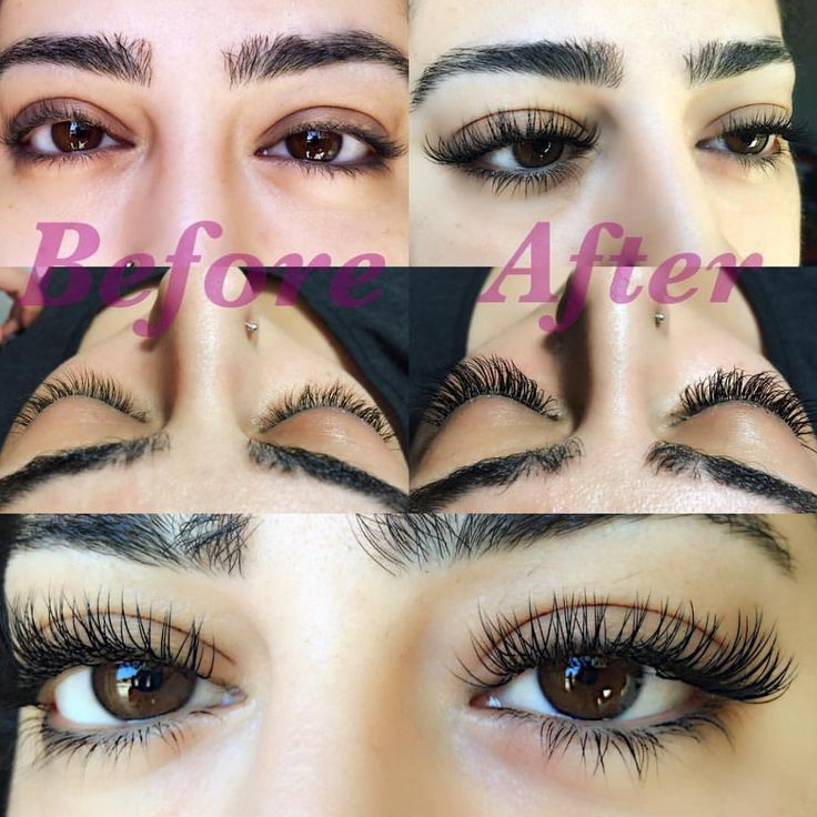 Before and After Classic individual eyelash extensions by @eba.lida (instagram) using La Vida Lash Mink Eyelash Extensions B curl 0.20 #lavidalash www.lavidalash.com