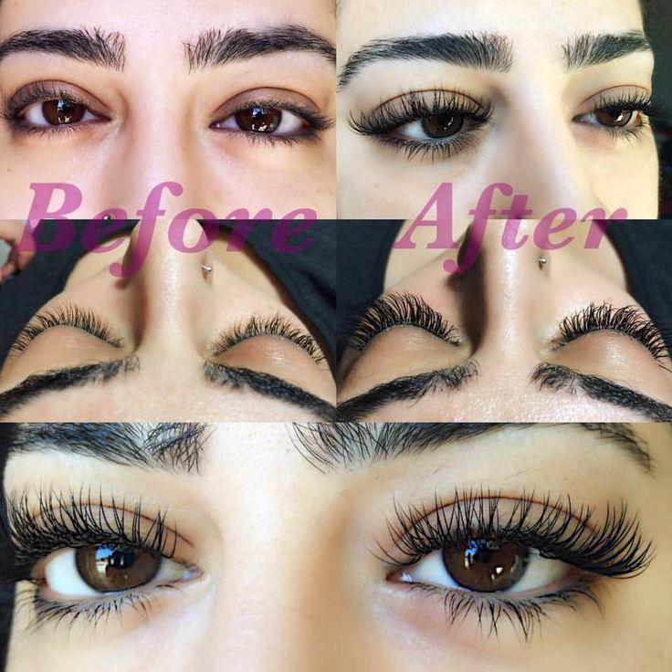 Before and After Classic individual eyelash extensions by @eba.lida (instagram) using La Vida Lash Mink Eyelash Extensions B curl 0.20 #lavidalash www.lavidalash.com