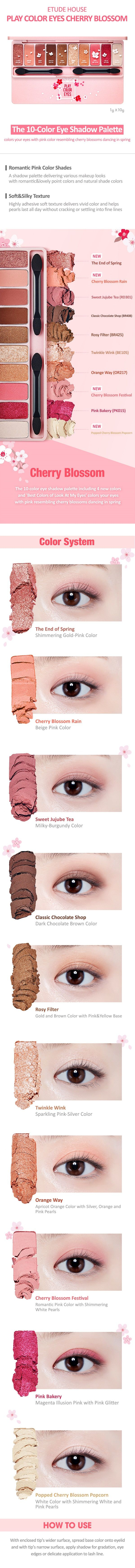 Play Color Eyes Cherry Blossom | ETUDE HOUSE