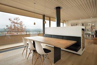 Wohnhaus in Weinfelden, panca/contenitore per la legna