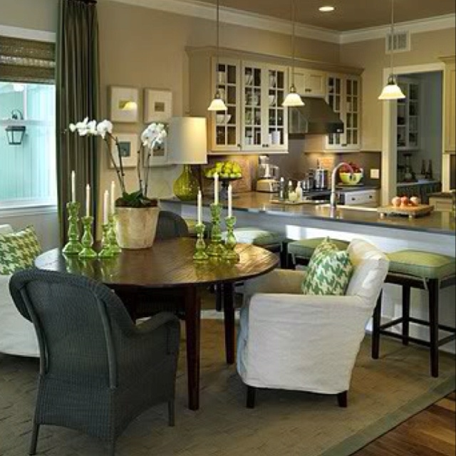Great Love The Open Kitchen And Comfy Dining Chairs Great Ideas