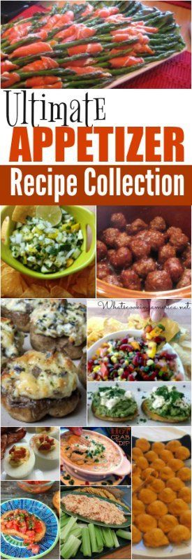Largest Collection of The Best Appetizer Recipes!  |  http://whatscookingamierca.net  |  #appetizers #newyears #christmas #thanksgiving