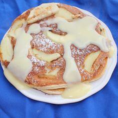 Gesunde Apfelpfannkuchen - low carb
