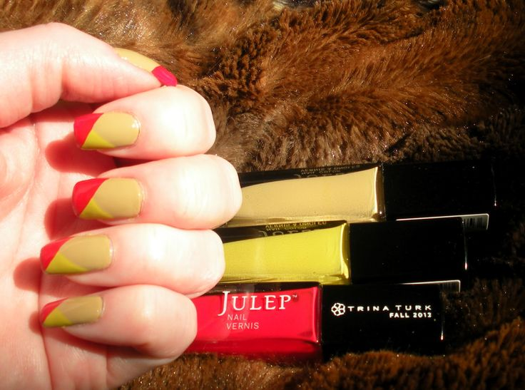 Chevron manicure using nail polishes from Julep by Trina Turk, Fall 2012