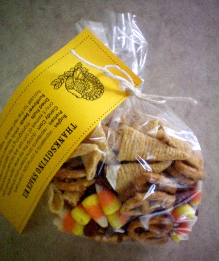 ThanksGiving Snack Mix- and Scotch Tape Winners - Craft-O-Maniac