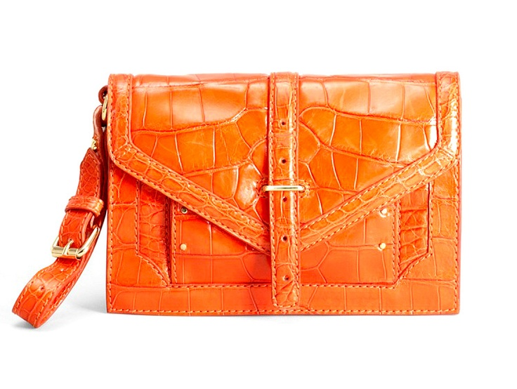 Tory Burch 797 Crocodile Clutch: 797 Crocodile