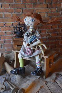 pipii, myszka tilda, handmade, rękodzieło, zabawki szmaciane, tilda anioł