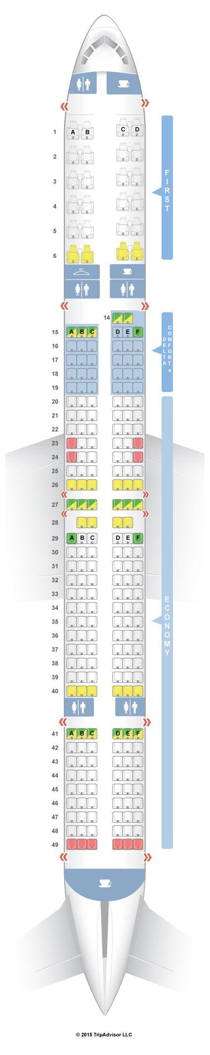 SeatGuru Seat Map Delta Boeing 757-300 (75Y)