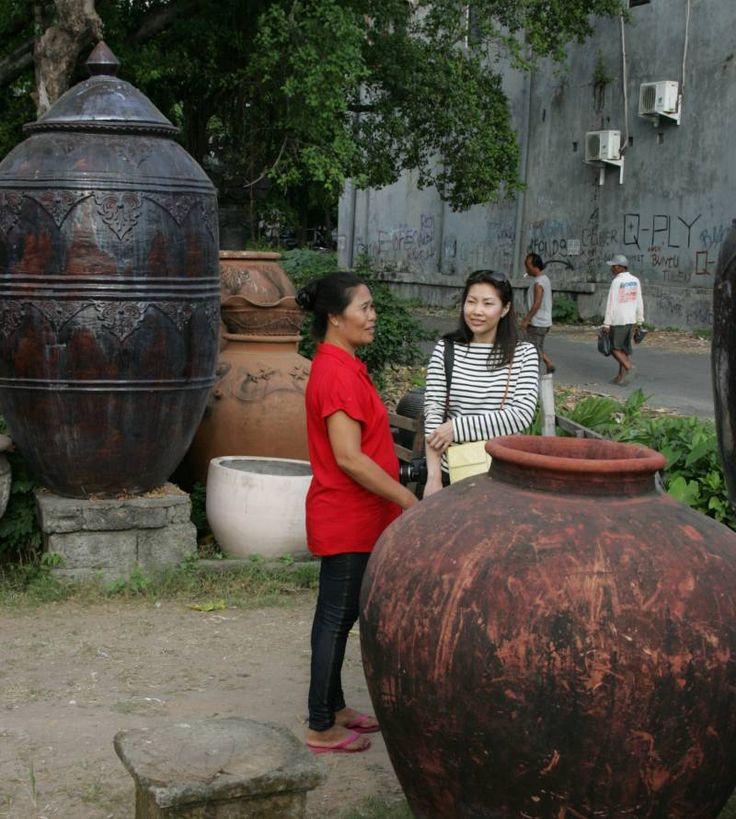 Terracotta pottery in Denpasar, Bali