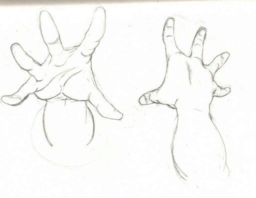 Hands reaching up.