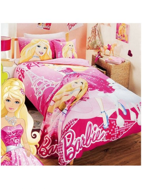 Barbie Fashion Fairytale Quilt Cover Set from Kids Bedding Dreams #girls #bedroom