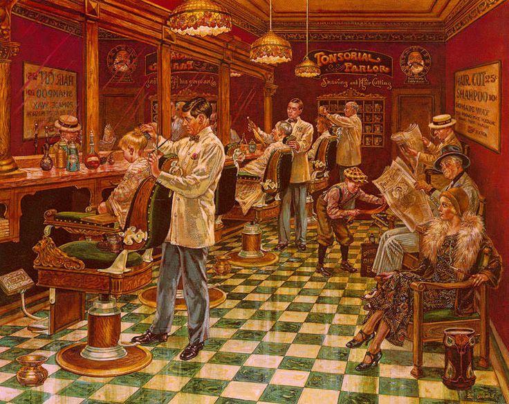 lee dubin barber shop le sn paper print 1251000 never framed free ship - 1000 Free Prints