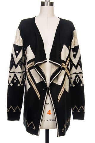 Add this Tribal Sweater to your Christmas List! Such a perfect fit at Wildflower | Boutique