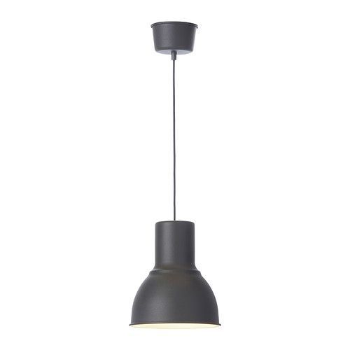 Possible Kitchen lighting HEKTAR Pendant lamp IKEA This lamp gives a pleasant light for dining. It spreads a good directed light across your dining or bar table.