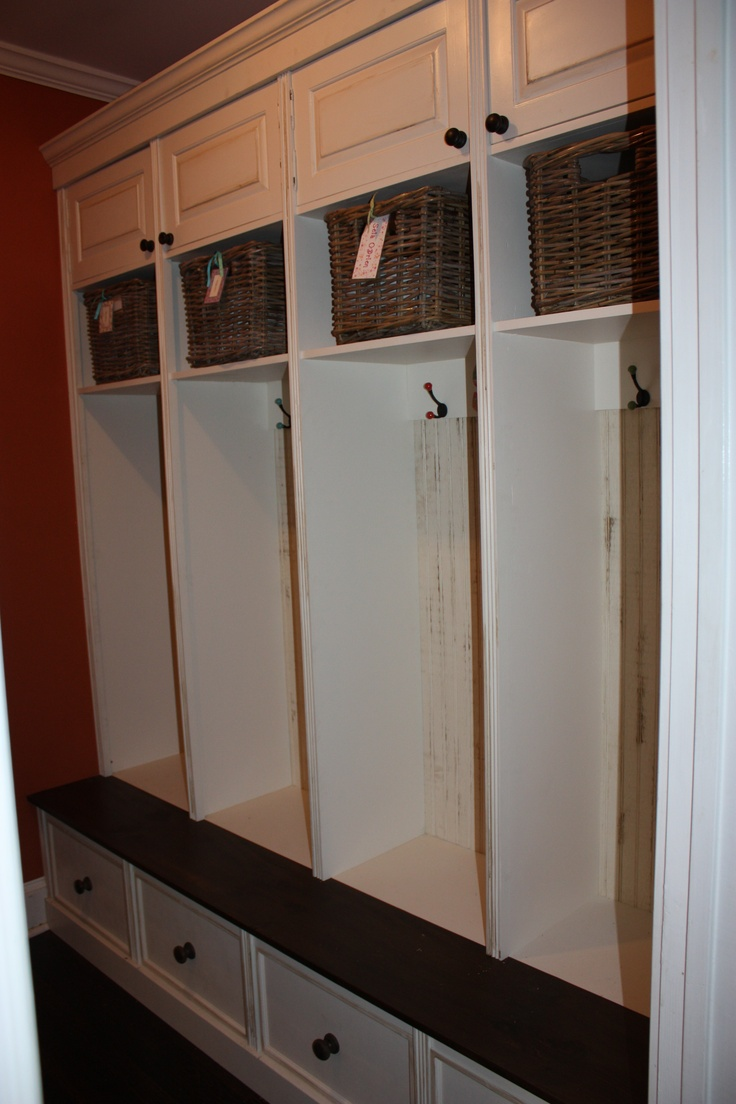 Mudroom Storage Drawers : Custom pine mudroom cubbies cabinets pinterest
