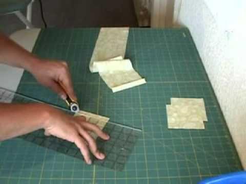 Técnica como costura diamante -- Bloco Estrela Part 1