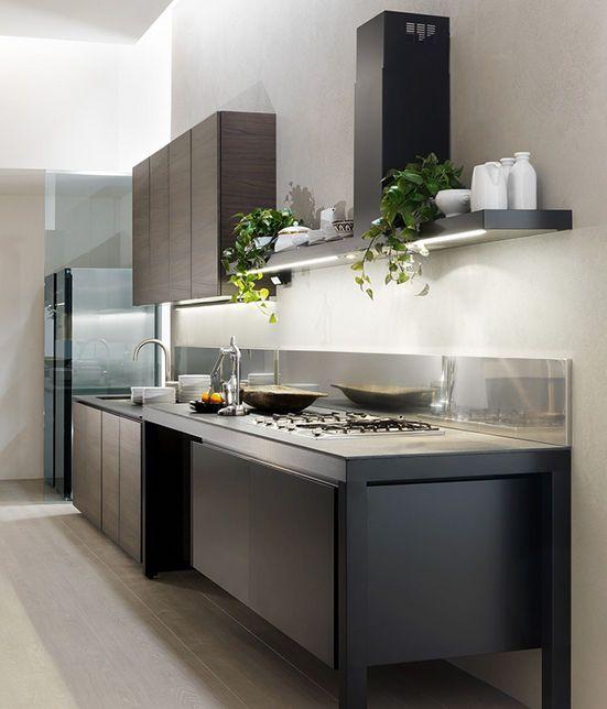Cocina moderna laminada / aluminio - BANCO by Luca Meda - Dada