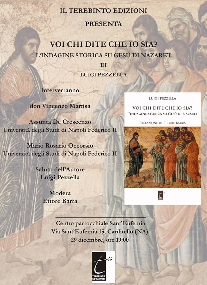 Cardito- Pezzella presenta il suo libro, un'indagine storica su Gesù di Nazareth