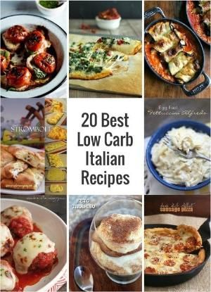 20 of the Best Low Carb Italian Recipes on Pinterest. Italian recipes made over to be keto, lchf, and Atkins diet friendly! by jami