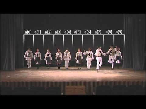 Bubble Sort - Clever with Hungarian Folk Dance