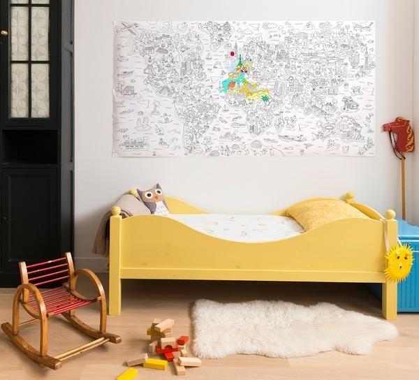 Coloriage Xxl Atlas Coloriage Xxl Decoration Chambre Enfant Espaces Reserves Aux Enfants