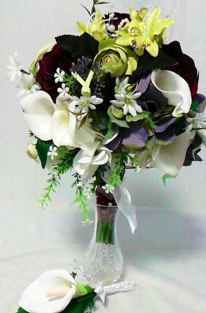 Excited to share the latest addition to my #etsy shop: Rose calla Lilly bouquet set