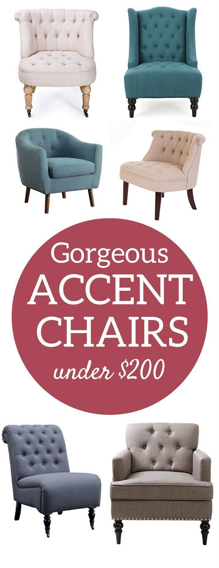 Accent Chairs   Fixer Upper Side Chairs   Living room chairs   Farmhouse chairs   tufted chairs
