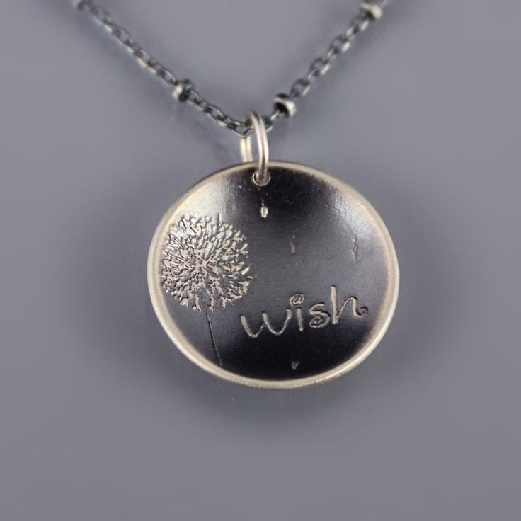 Dandelion Wish Necklace. love this!!