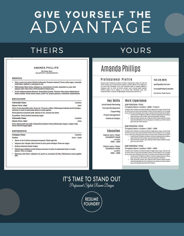 155 Best Modern Cv Template Images On Pinterest | Resume Tips