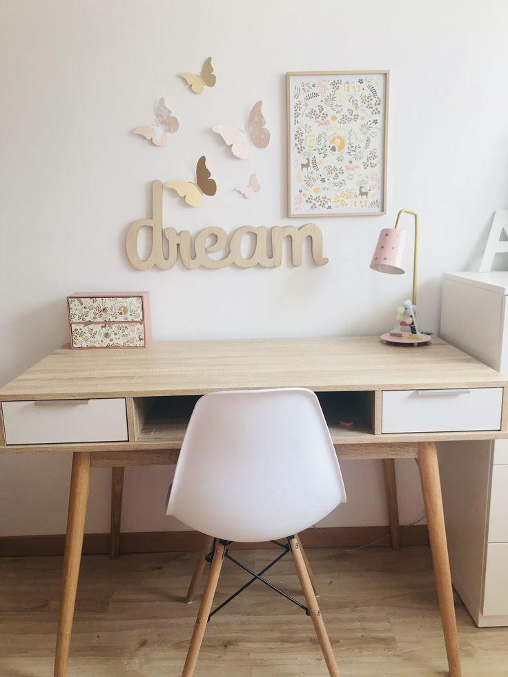 Escritorio niña, maison du monde, Ikea, habitación niña, Escritorio juvenil, habitación tumblr #decoracionhabitacionjuveniles