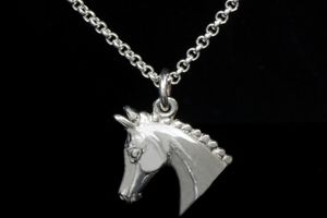 Show hack horse head necklace - County Equestrian Jewellers