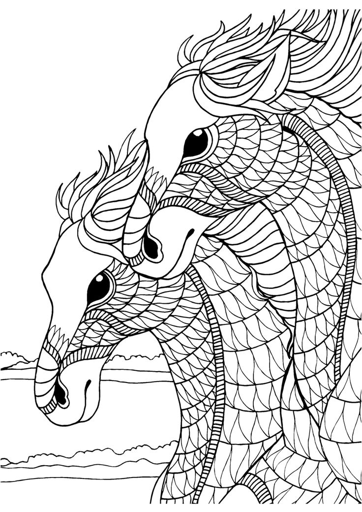 454 best images about Coloring Pages - Horses, Unicorns ...