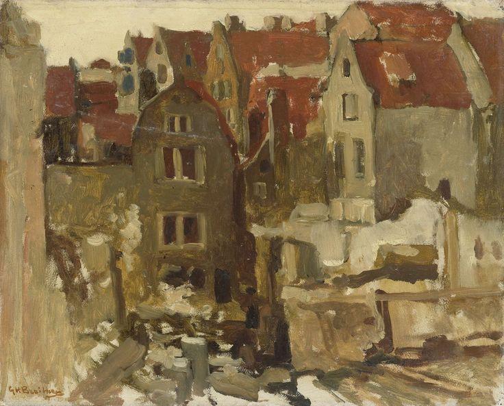 Afbraak van de Grand Bazar de la Bourse aan de Nieuwendijk te Amsterdam., George Hendrik Breitner, 1893 - 1897