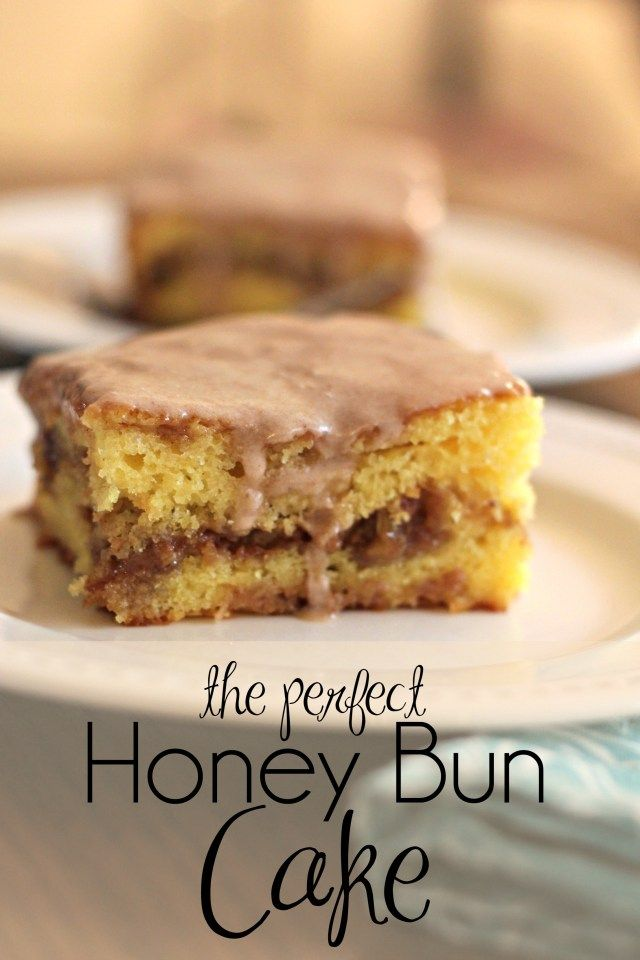 Honey Bun Cake - made with butter instead of oil