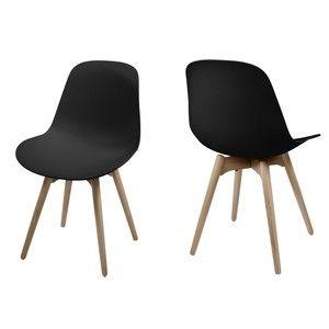 Jedálenská stolička Scramble, čierna