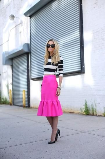 Trend to Try: Crop Tops and Midi Skirts   StyleCaster