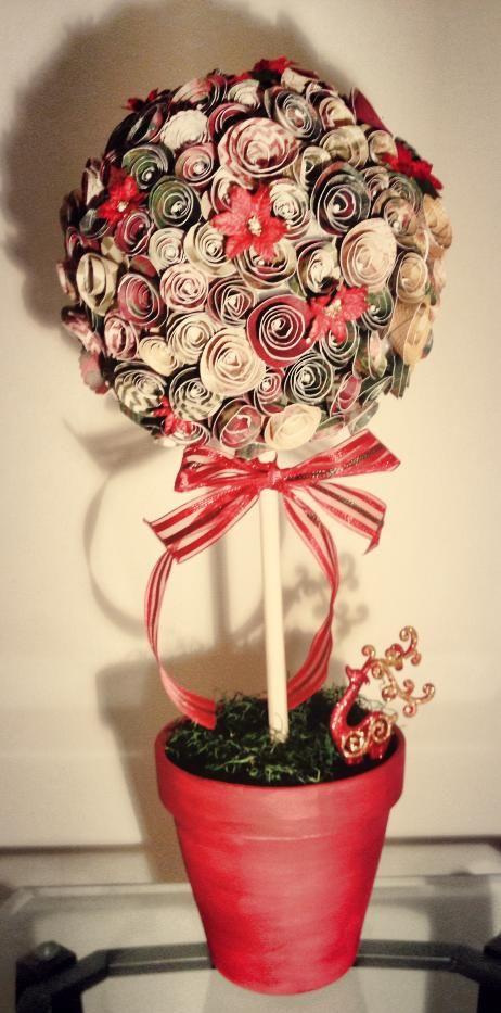 Paper flower Christmas Tree Tutorial.