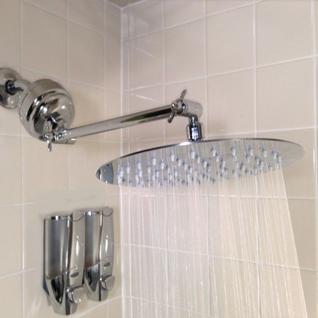 our deluxe stainless steel rain shower filter features a thin wide shower head and helps ph shower filterhard waterrain