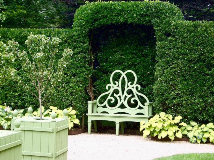 At Home and in the Garden with Bettie Bearden Pardee - The Glam Pad the parterre bench for sale