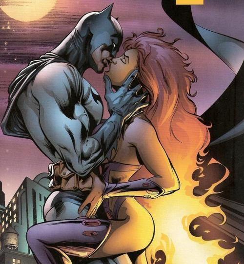 Dick Grayson as Batman, and Starfire
